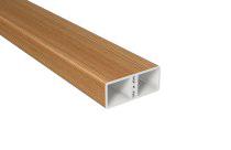 PVC Zaunlattenprofil - B60 x T25 mm in Bergkiefer