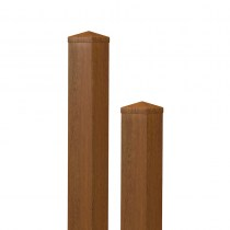 Pfosten / Golden Oak / Kunststoff / PVC / SICHTAFLEX