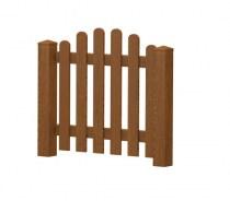 Gartenpforte | Kunststoff | Oberbogen - Golden-Oak | VORMONTIERT