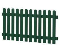 Gartenzaun-Element (Lattenzaun) | PVC-Kunststoff | Gerade - Moosgrün | BAUSATZ
