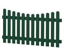 Gartenzaun-Element (Lattenzaun) | PVC-Kunststoff | Unterbogen - Moosgrün | BAUSATZ