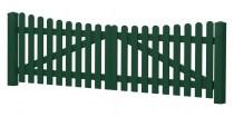 Gartenpforte | Kunststoff | Unterbogen - Moosgrün | VORMONTIERT