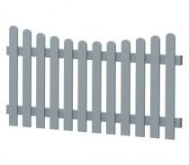 Gartenzaun-Element (Lattenzaun)   PVC-Kunststoff   Unterbogen - Grau   BAUSATZ
