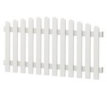 Gartenzaun-Element (Lattenzaun) | PVC-Kunststoff | Oberbogen - Weiß | BAUSATZ