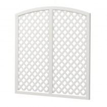 Sichtschutzelement Oberbogen Kunststoff - Sichtaflex® Rankgitter komplett - Weiß