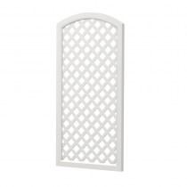 Sichtschutzelement Oberbogen Kunststoff - 1/2 Sichtaflex® Rankgitter komplett - Weiß
