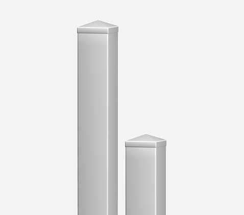 Komplett Neu Sichtaflex eckig : PVC Pfosten 10 x 10 | inkl. Pfostenkappe YD03