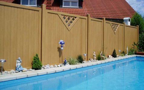 Lieblich Wetterfester Sichtschutz Als Pooltrennwand